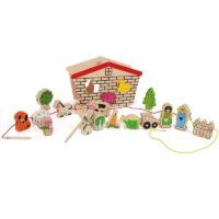 Puidust nöörimismäng ja sorteerija lastele