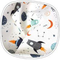 Montessori lauamatt kosmose mustriga