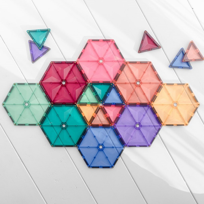 Pastelne Connetix magnetklotside komplekt