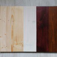 Värvitoonide valikud puidust toodetele