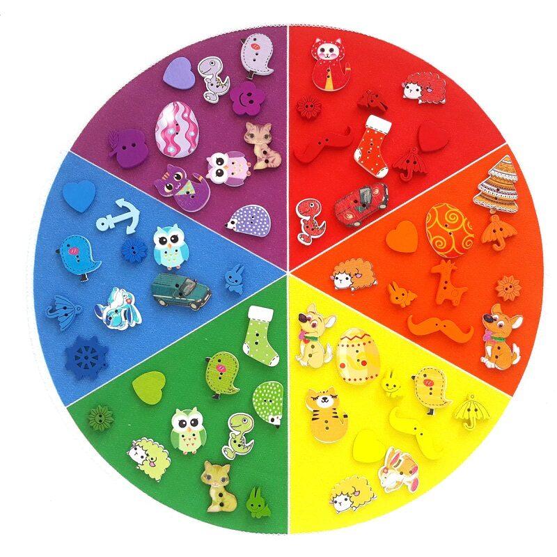 Montessori värviratas 6 värvi