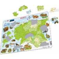 Eesti kaart ja metsloomad pusle